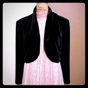 Vintage Another Thyme cropped velvet jacket